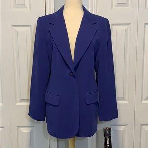 NWT Sag Harbor sapphire blue suit jacket blazer